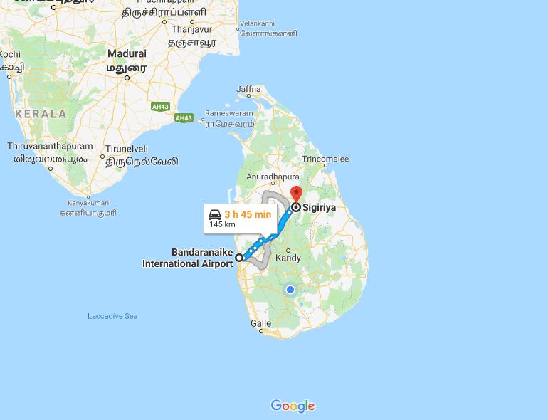 sigiriya map
