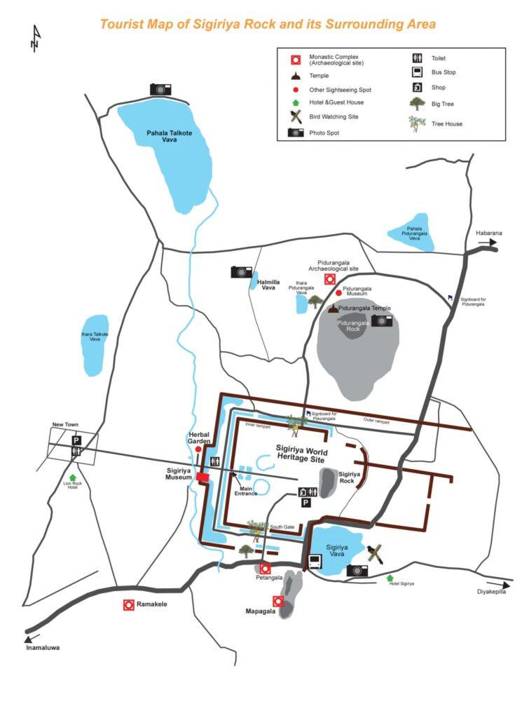 Sigiriya Guide map 1
